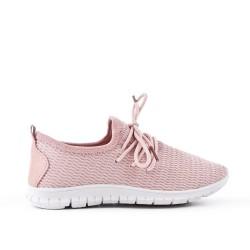 Cesta rosa para niños en telas elásticas