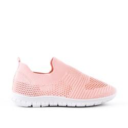 Pink kid's basket in stretch fabrics