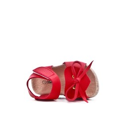 Red girl sandal with bow