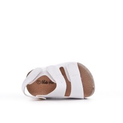 Sandale fille blanche à scratch