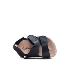 Sandale fille noire à scratch