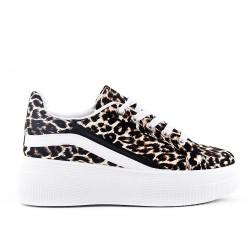 Cesto leopardo con suela gruesa