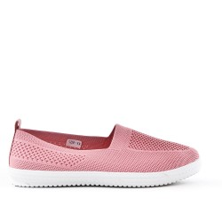 Chaussure rose en textile extensible