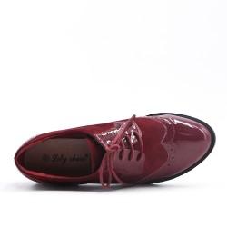 Richelieu red wine bi-material lace
