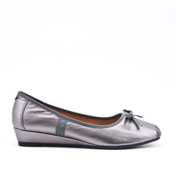 Silver ballerina with bow