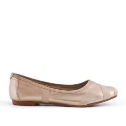 Ballerine confort dorée en simili cuir