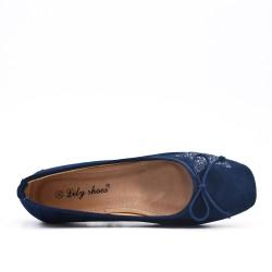 Ballerine confort bleu à motif étoile