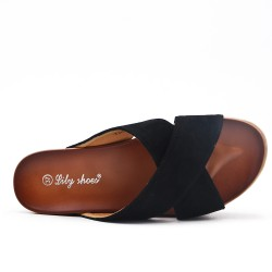 Black flap with thick sole