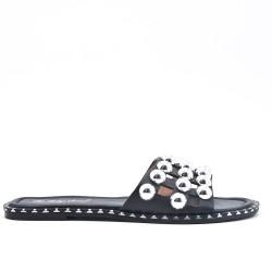 Pizarra negra decorada con perlas