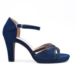 Sandalias de ante azul