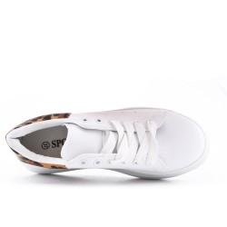 Tennis blanc à lacet