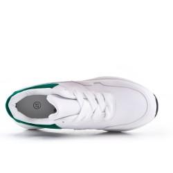 Basket blanche en simili cuir à lacet