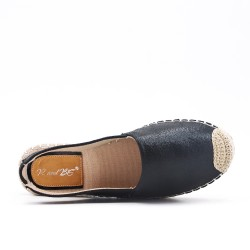 Black espadrille with open back