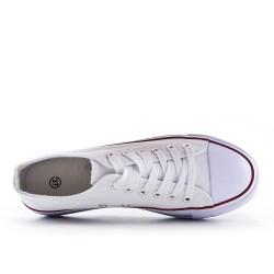 White lace tennis shoes