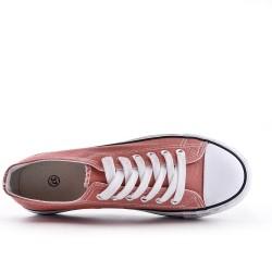 Zapatos tenis de encaje rosa
