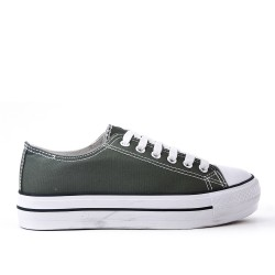 Green Lace Tennis Shoes