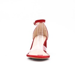 Red sandal with heel