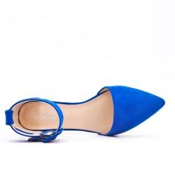 Ballerine bleu à boucle