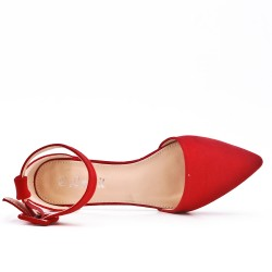 Red ballerina with buckle
