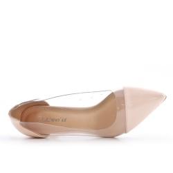 Pink high heel pump
