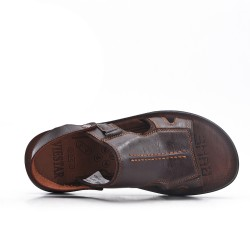 Brown men's sandal with comfort sole