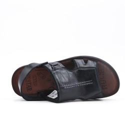 Sandale homme noire à semelle confort
