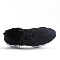 Basket en toile noire à lacet