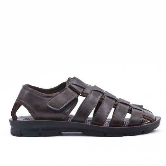 sandale cuir marron homme pour soiree