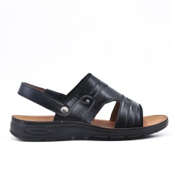 Black sandal with comfort sole