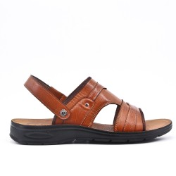 Camel sandal with comfort sole