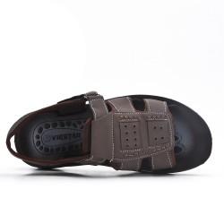 Sandale homme marron