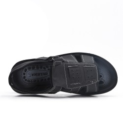Black man sandal in faux leather