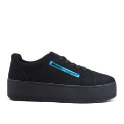 Zapatillas negras con suela gruesa