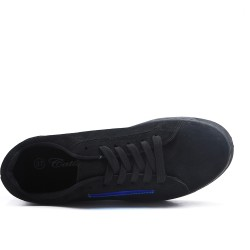 Black tennis shoes with thick soles