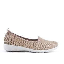 Chaussure beige en textile extensible