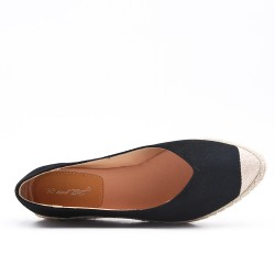 Black espadrille in faux suede