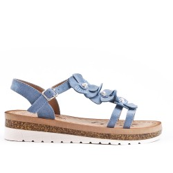 Blue sandal with comfort sole