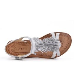 Sandale grise à frange