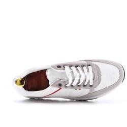 Zapatilla de deporte bi-material con cordones