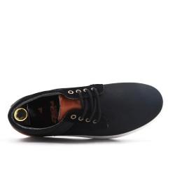 Basket basse noire à lacet