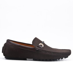 Brown imitation leather moccasin