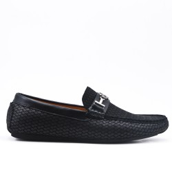 Black loafer with checks