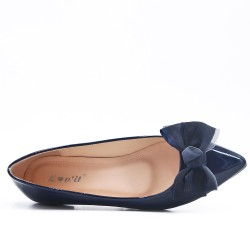 Ballerina in blue lacquer with bow