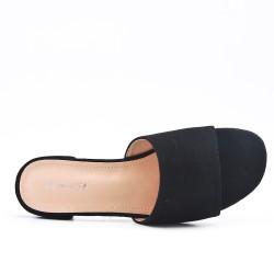 Black flap in faux suede