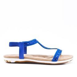 Sandale bleu orné de strass