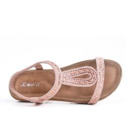 Pink sandal with rhinestones