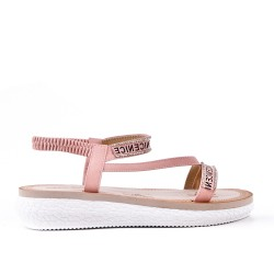 Pink sandal with comfort sole