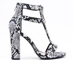 Print sandal snake with heel