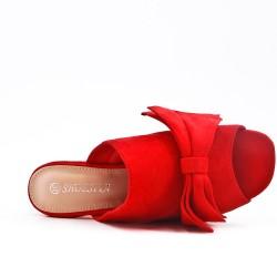 Nudo de ante rojo sintético slouch