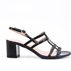 Sandale noire en vernis